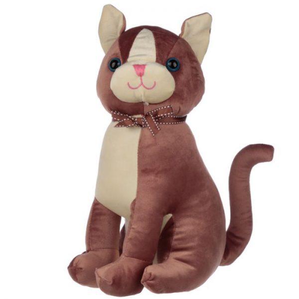 Hnedá mačka so stuhou Zarážka do dverí 1 - pre milovníkov mačiek