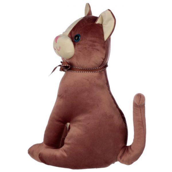 Hnedá mačka so stuhou Zarážka do dverí 4 - pre milovníkov mačiek