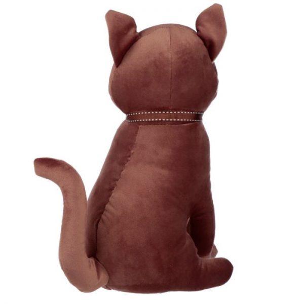 Hnedá mačka so stuhou Zarážka do dverí 3 - pre milovníkov mačiek