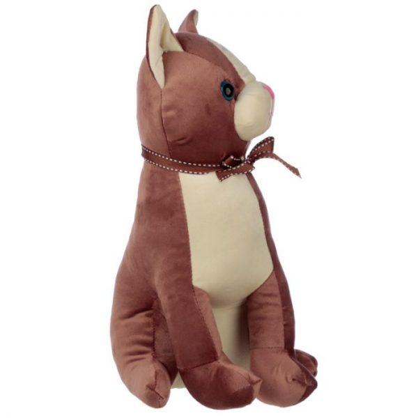 Hnedá mačka so stuhou Zarážka do dverí 2 - pre milovníkov mačiek