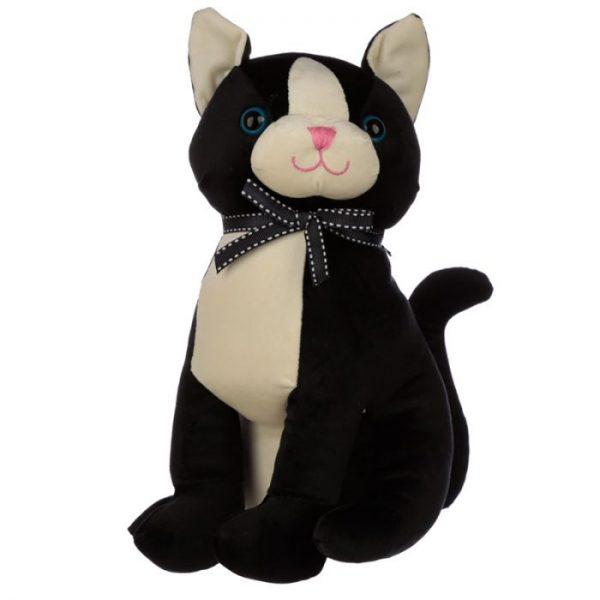 Čierna mačka so stuhou Zarážka do dverí 1 - pre milovníkov mačiek