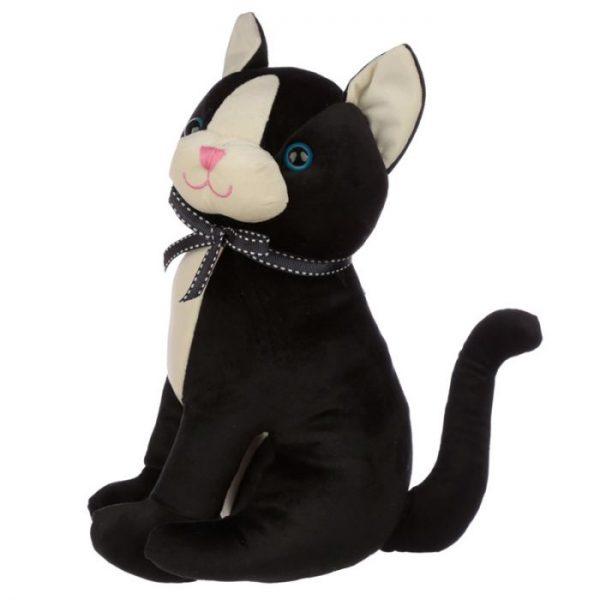 Čierna mačka so stuhou Zarážka do dverí 4 - pre milovníkov mačiek