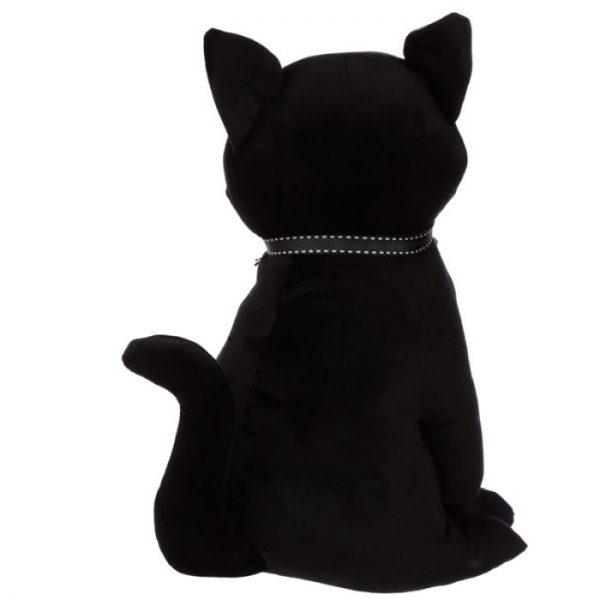 Čierna mačka so stuhou Zarážka do dverí 2 - pre milovníkov mačiek