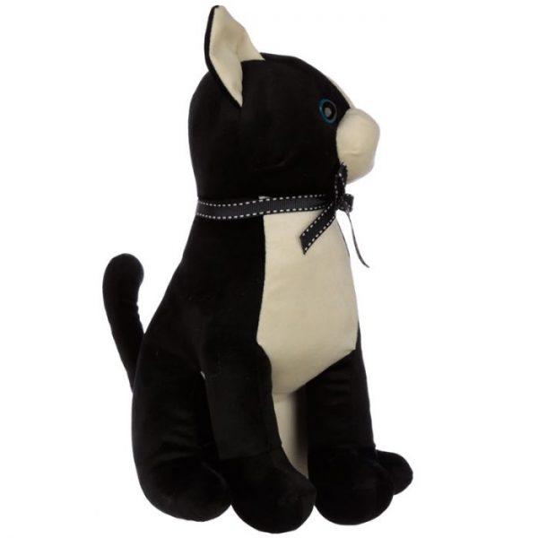 Čierna mačka so stuhou Zarážka do dverí 3 - pre milovníkov mačiek