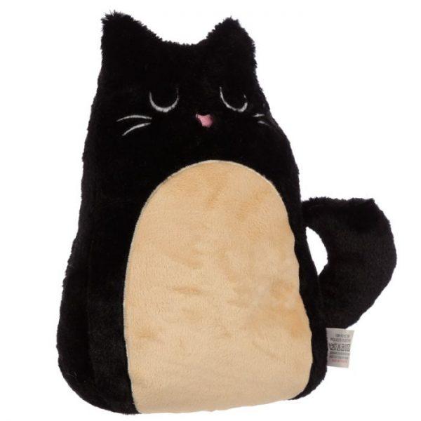 Feline Fine čierna plyšová mačka Zarážka do dverí 1 - pre milovníkov mačiek