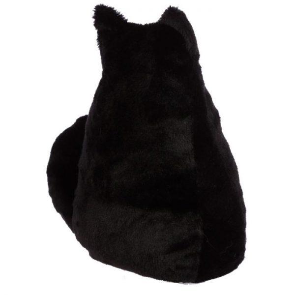 Feline Fine čierna plyšová mačka Zarážka do dverí 4 - pre milovníkov mačiek