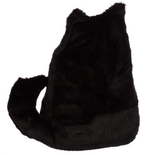 Feline Fine čierna plyšová mačka Zarážka do dverí 3 - pre milovníkov mačiek