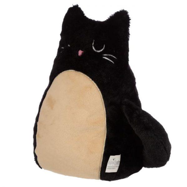 Feline Fine čierna plyšová mačka Zarážka do dverí 2 - pre milovníkov mačiek