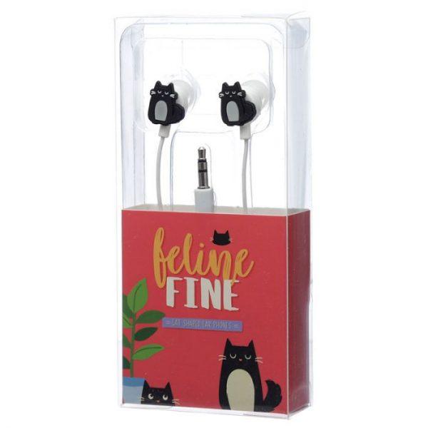 Feline Fine Slúchadlá v tvare mačky 2 - pre milovníkov mačiek