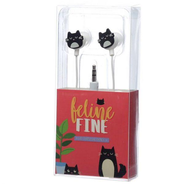 Feline Fine Slúchadlá v tvare mačky 6 - pre milovníkov mačiek