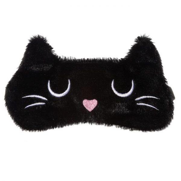 Maska na oči mačička Feline Fine čierna 9 - pre milovníkov mačiek