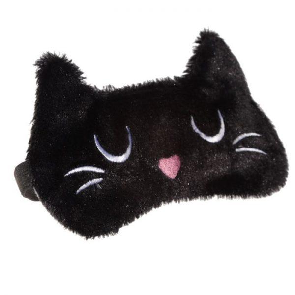 Maska na oči mačička Feline Fine čierna 2 - pre milovníkov mačiek