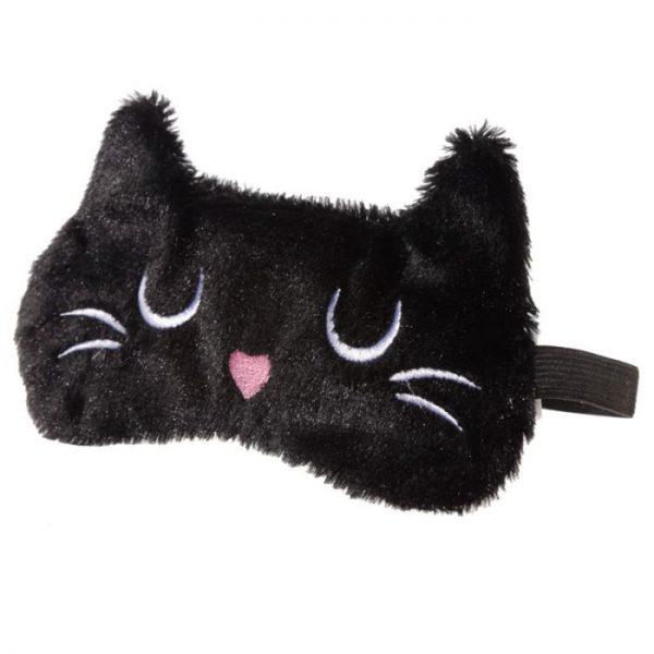 Maska na oči mačička Feline Fine čierna 1 - pre milovníkov mačiek