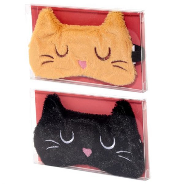 Maska na oči mačička Feline Fine čierna 8 - pre milovníkov mačiek