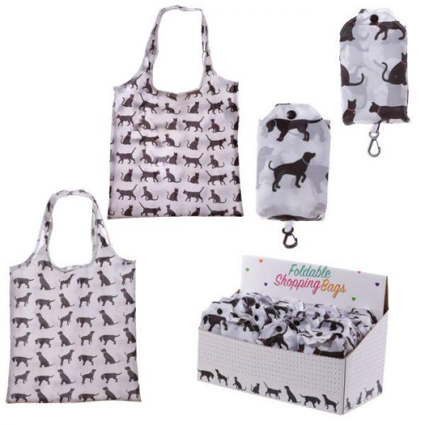 Skladacia Nákupná taška - I Love My Cat & I Love My Dog 1 - pre milovníkov mačiek