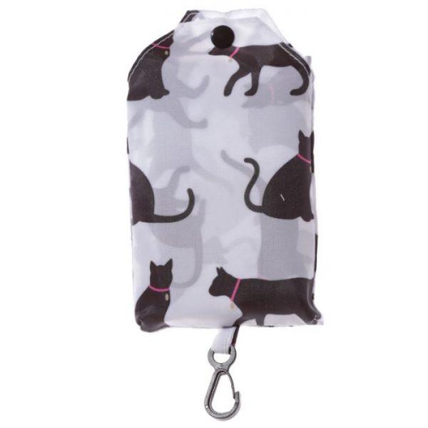 Skladacia Nákupná taška - I Love My Cat & I Love My Dog 6 - pre milovníkov mačiek