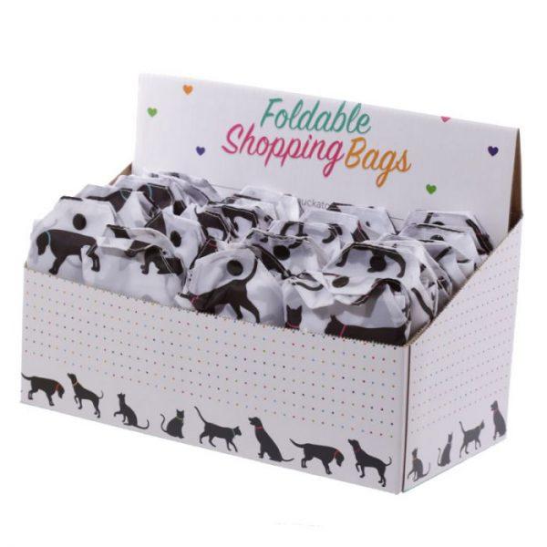 Skladacia Nákupná taška - I Love My Cat & I Love My Dog 7 - pre milovníkov mačiek