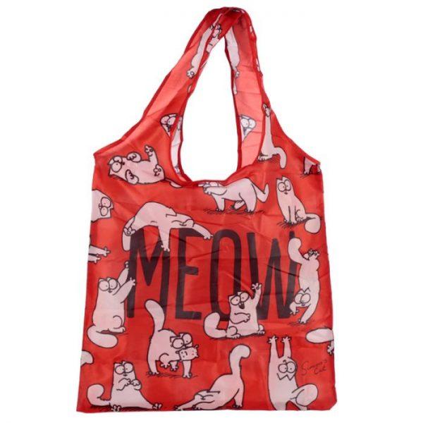 Skladacia Nákupná taška - Simon's Cat MEOW Design 5 - pre milovníkov mačiek