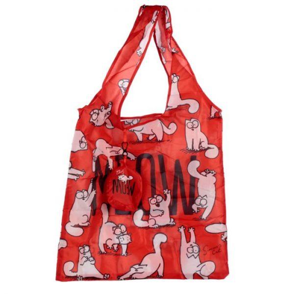 Skladacia Nákupná taška - Simon's Cat MEOW Design 2 - pre milovníkov mačiek