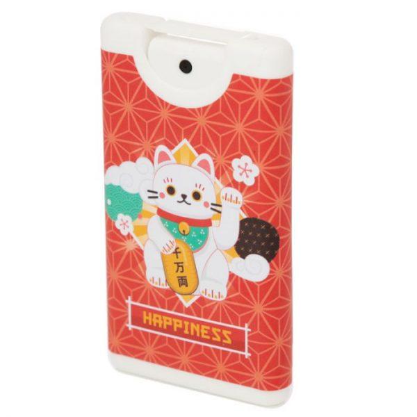 Dezinfekcia na ruky v spreji s motívom mačičky pre šťastie Maneki Neko 2 - pre milovníkov mačiek