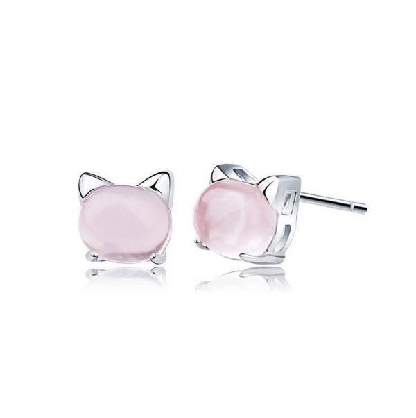 Sterling Silver cat earrings 1 - pre milovníkov mačiek
