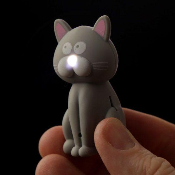 Mačacia LED mňaukajúca kľúčenka 7 - pre milovníkov mačiek