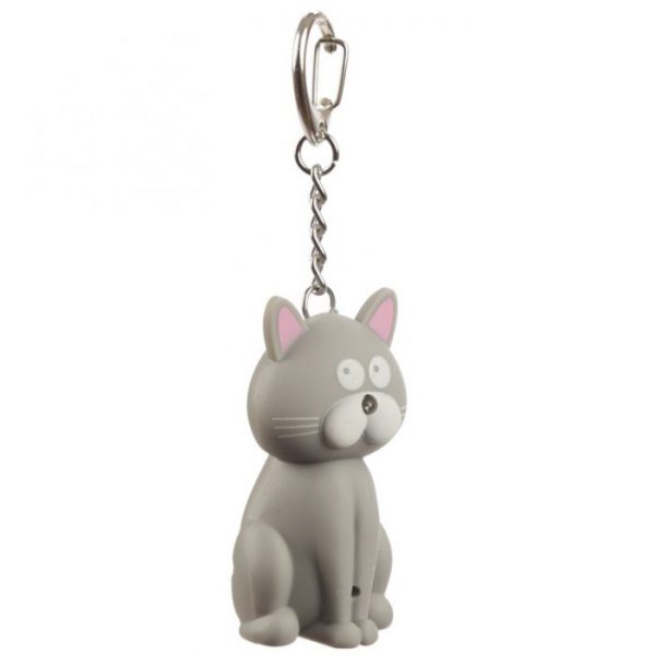Mačacia LED mňaukajúca kľúčenka 2 - pre milovníkov mačiek