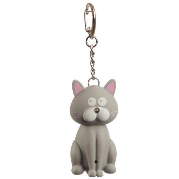 Mačacia LED mňaukajúca kľúčenka 3 - pre milovníkov mačiek