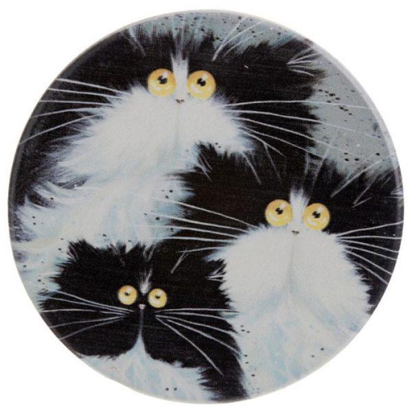 Kim Haskins Mačky Set 4 tácok 3 - pre milovníkov mačiek