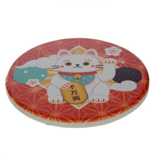 Set 4 tácok Maneki Neko - mačka šťastie 4 - pre milovníkov mačiek