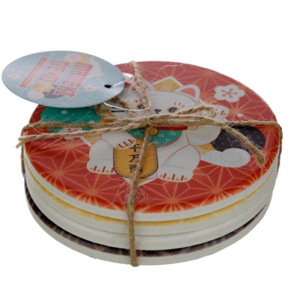 Set 4 tácok Maneki Neko - mačka šťastie 5 - pre milovníkov mačiek