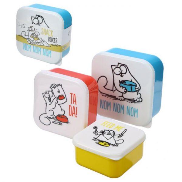 Set 3 krabičiek na desiatu S/M/L - Simon's Cat 1 - pre milovníkov mačiek