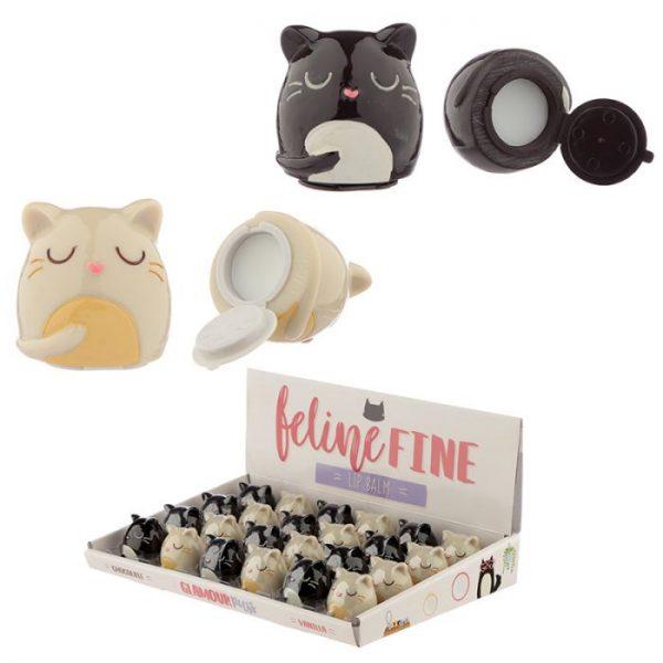 Balzam na pery v držiaku mačky Feline Fine 1 - pre milovníkov mačiek