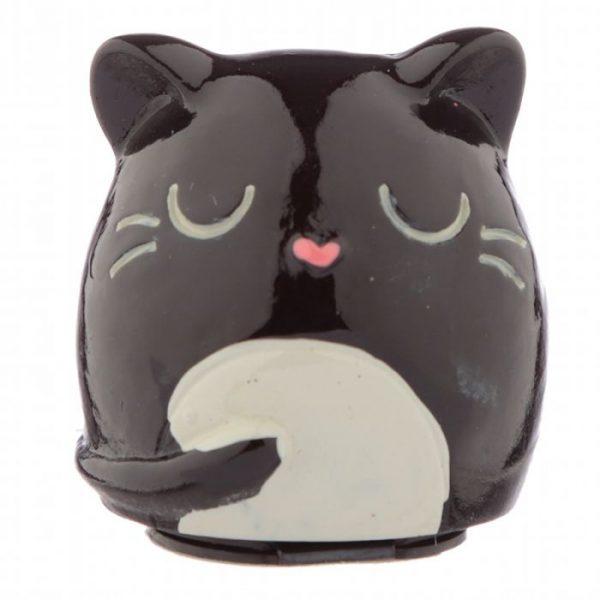 Balzam na pery v držiaku v tvare Feline Fine Cat - čierny 1 - pre milovníkov mačiek