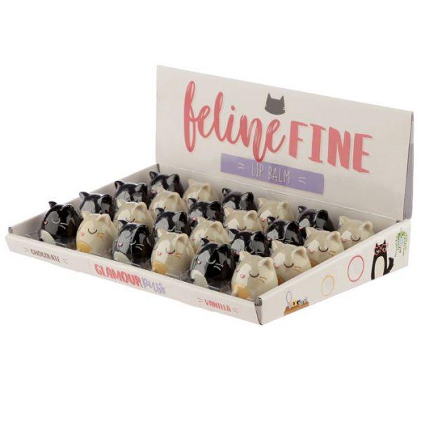 Balzam na pery v držiaku v tvare Feline Fine Cat - čierny 5 - pre milovníkov mačiek