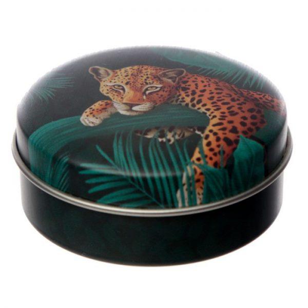 Spots & Stripes Big Cat Animal Print Balzam na pery v plechovke - citrón 1 - pre milovníkov mačiek