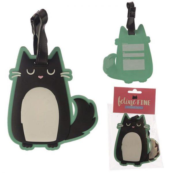 Mačka Feline Fine PVC Štítok na batožinu 1 - pre milovníkov mačiek