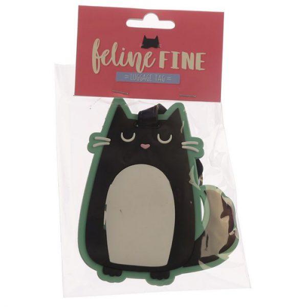 Mačka Feline Fine PVC Štítok na batožinu 3 - pre milovníkov mačiek