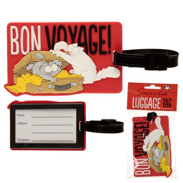 Simon's Cat Bon Voyage! PVC Štítok na batožinu 1 - pre milovníkov mačiek