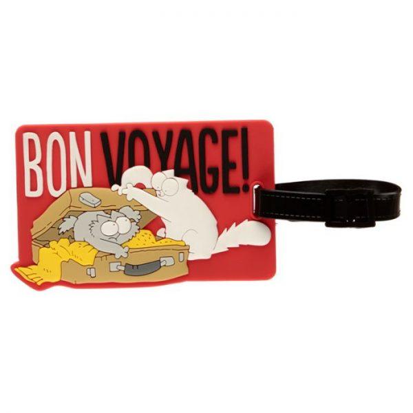Simon's Cat Bon Voyage! PVC Štítok na batožinu 3 - pre milovníkov mačiek