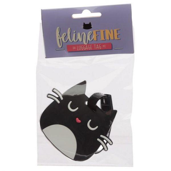 Mačka Feline Fine Head PVC Štítok na batožinu 1 - pre milovníkov mačiek