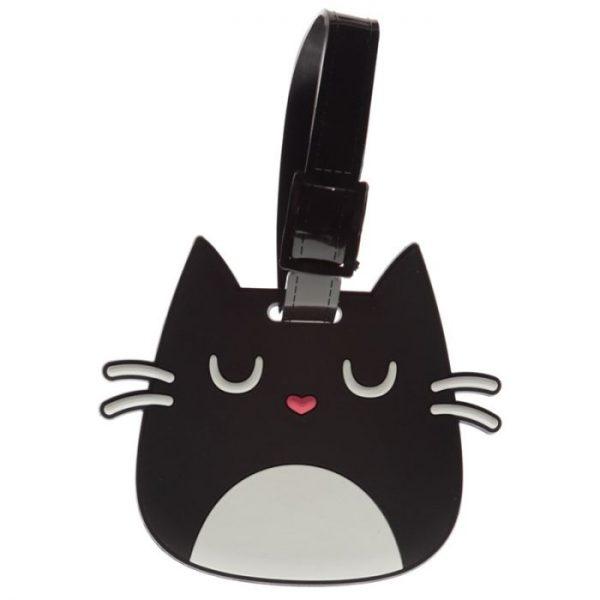 Mačka Feline Fine Head PVC Štítok na batožinu 2 - pre milovníkov mačiek