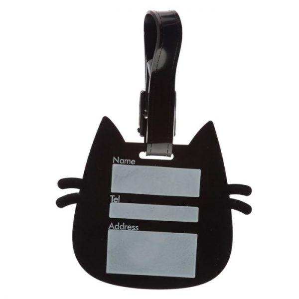 Mačka Feline Fine Head PVC Štítok na batožinu 3 - pre milovníkov mačiek