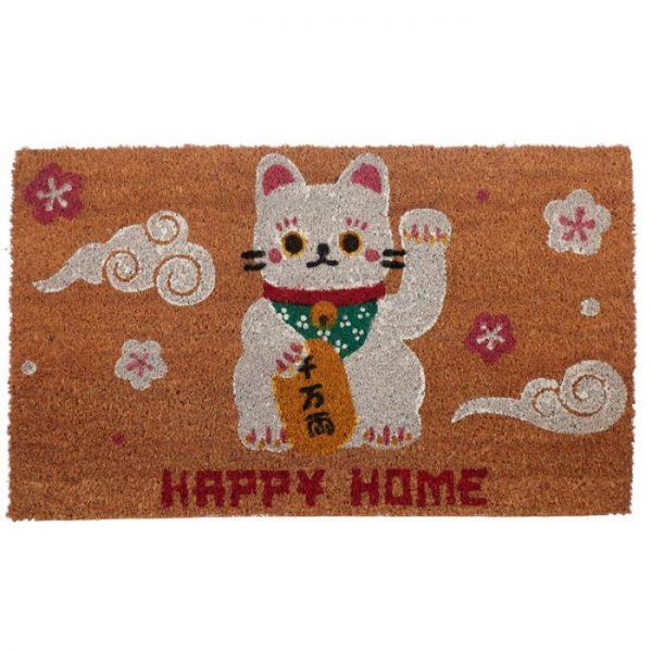 Maneki Neko - mačka šťastie Rohožka z kokosových vlákien 1 - pre milovníkov mačiek