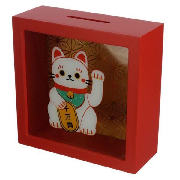 Pokladnička Maneki Neko - mačka šťastie 1 - pre milovníkov mačiek