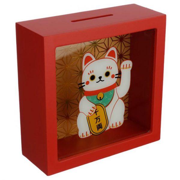Pokladnička Maneki Neko - mačka šťastie 3 - pre milovníkov mačiek