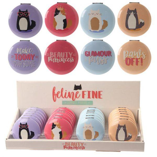 Mačka Feline Fine Kompaktné zrkadielko 1 - pre milovníkov mačiek