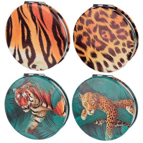 Spots & Stripes Veľká Mačička Koženkové kompaktné zrkadielko 1 - pre milovníkov mačiek