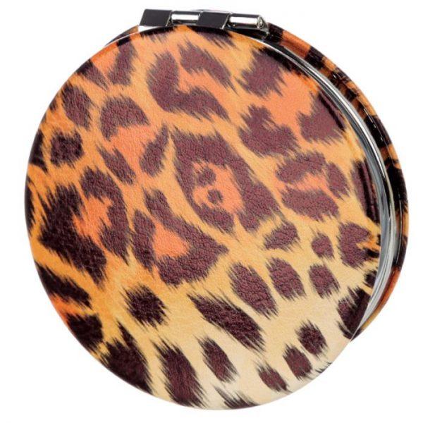Spots & Stripes Big Cat Koženkové kompaktné zrkadlo Big Cat - škvrny 4 - pre milovníkov mačiek
