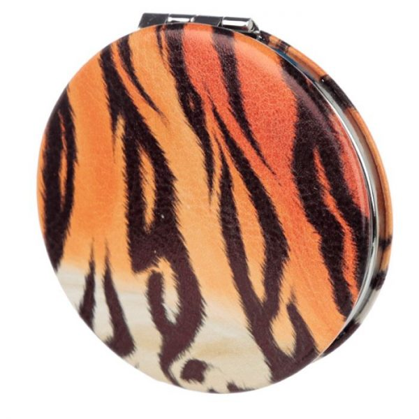 Spots & Stripes Big Cat Koženkové kompaktné zrkadlo Big Cat - škvrny 5 - pre milovníkov mačiek